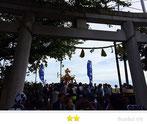 恵利子さん:  東八幡神社例大祭