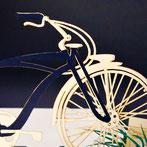 """Pop Up Karte """"Fahrrad im Gras"""""""