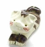 九谷焼 箸置き 白猫