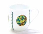 九谷焼『マグカップ(磁器)』丸紋 吉田屋 松竹梅 小紋付 中裏絵
