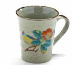 九谷焼『マグカップ』椿に鳥『裏絵』
