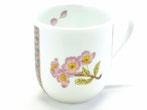 九谷焼『マグカップ』磁器 ソメイヨシノ 小紋付 中裏絵