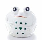 九谷焼『蛙』大 深緑