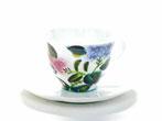 九谷焼通販 父の日ギフト カップ&ソーサー コーヒーカップ がく紫陽花 裏絵