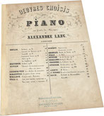 Филд, Le Midi, ноктюрн, антикварные ноты