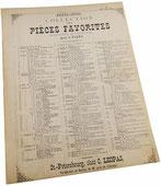 1-й Вальс, Огюст Дюран, ноты для фортепиано