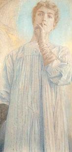 Fernand KHNOPFF (1858 - 1921), Du silence, 1890, Pastel on paper, 87,8 x 44,3 © Bruxelles, MRBAB/KMSKB