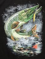 pêcheur de brochet au leurre