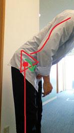 おじぎの時の腰痛の改善改善方法を伝える奈良県葛城市の整体師