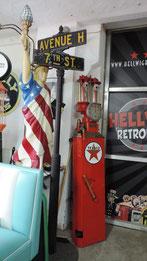 Zapfsäule Garage Tankstelle US Firma Diner Deko Miete für Messe Event