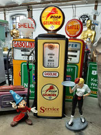 Mobil Gas Tankstelle Hot Rod Vintage 50`s Style Diner Furniture