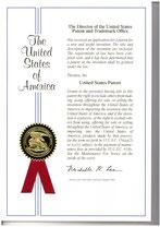 特許証(米国)