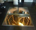 9. Bodenklappe aus Glas mit festem Rahmen Viereckige Form