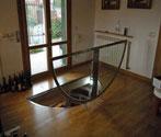 10. Bodenklappe aus Glas mit festem Rahmen Runde Form