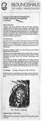 caritative Ausstellung von Hansi und Fritz Oesterlein