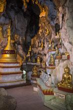 Die Höhlen von Pindaya beherbergen mehr als 8000 Buddhafiguren.