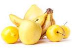 Frutta gialla matura