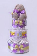 Фиалковый памперсный торт с Зайкой Ми