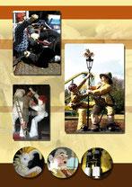 Die 35 Jahre alten Dick und Doof Figuren sollten in Restauriert und mit einem Safarithema versehen werden