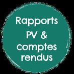 Rédaction PV, compte rendus, rapports