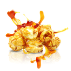 popcorn mit karamell, karamelisiertes popcorn
