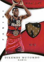 DIKEMBE MUTOMBO / Immaculate Patch - No. P-DM  (#d 28/55)