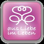 """Bild: Logo von der Bewusstseinsmarke """"aus Liebe im Leben"""""""