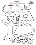 Spielbuch Quiet book Nähanleitung Schablonen Zelt Wald Camping