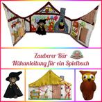 Spielbuch Nähanfänger kleine Hexe Zauberer Bär Activity book Quiet book Nähanleitung