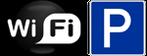 WiFi Internet und Parkplatz gratis