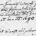 © Universität Heidelberg, Heid. Hs. 753 Verzeichnis der Lehrjungen der Bäcker- und Müllerzunft Heidelberg (1693-1771), 1r