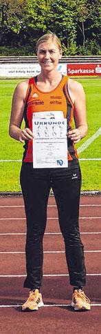 Katja Marburger war beim Siebenkampf in Hüsten erfolgreich