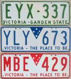 Nummernschilder aus Australien kaufen