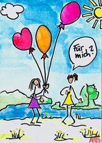 Mohr Trainings drei Ballons