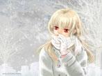 冬景色のイラスト