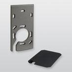Distanzset cryplock DZS R/K-MD (RAL 9007 Graualuminium) von Telenot; presented by SafeTech