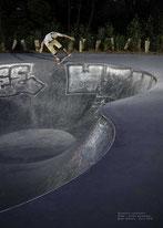 Skate à Rennes, bowl de la Courrouze