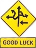 Speciaal verkeersbord - good luck