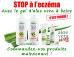 Les bienfaits du gel d'Aloe Vera sur les affections cutanées comme psoriasis et eczema. Le gel d'Aloe Vera LR a des vertus hémostatiques, anesthésiques, cicatrisantes et anti-inflammatoires
