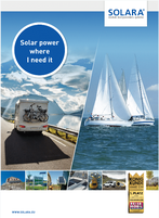 Everything about solar technology, solar systems, charge controllers and accessories from Solara in the current catalog. Solar power systems for mobile homes, campers, vans, sailing boats, garden houses, dacha and self-sufficient power supply wherever the