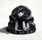 Krippe aus Sandstein und Alabaster. Herkunft unbekannt.