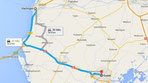 die heutige Route nach Harlingen