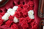 バラの花 赤100個 白100個