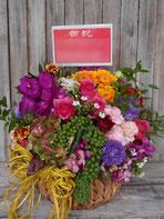 アレンジメントフラワー(楽屋花)をVeatsSHIBUYAにお届け。楽屋お見舞いや公演お祝い、開店お祝いにおすすめです。