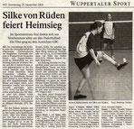 Westdeutsche Zeitung Bericht vom 25.09.2003