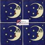 Azulejo Talavera modelo Luna Azul en 10.5 x 10.5 cm, ideal para baños y cocinas mexicanas lo encuentras en Rústicos Artesanales visítanos en nuestra web www.rusticosartesanales.com