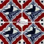 Azulejo Talavera modelo Pájaro Colonial o Robin en 10.5 x 10.5 cm, ideal para baños y cocinas mexicanas lo encuentras en Rústicos Artesanales visítanos en nuestra web www.rusticosartesanales.com