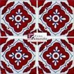 Azulejo Talavera modelo Toledo Terracota en 10.5 x 10.5 cm, ideal para baños y cocinas mexicanas lo encuentras en Rústicos Artesanales visítanos en nuestra web www.rusticosartesanales.com