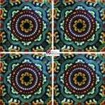Azulejo Talavera modelo Rosario Verde en 10.5 x 10.5 cm, ideal para baños y cocinas mexicanas lo encuentras en Rústicos Artesanales visítanos en nuestra web www.rusticosartesanales.com