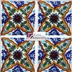 Azulejo Talavera modelo Veracruz en 10.5 x 10.5 cm, ideal para baños y cocinas mexicanas lo encuentras en Rústicos Artesanales visítanos en nuestra web www.rusticosartesanales.com